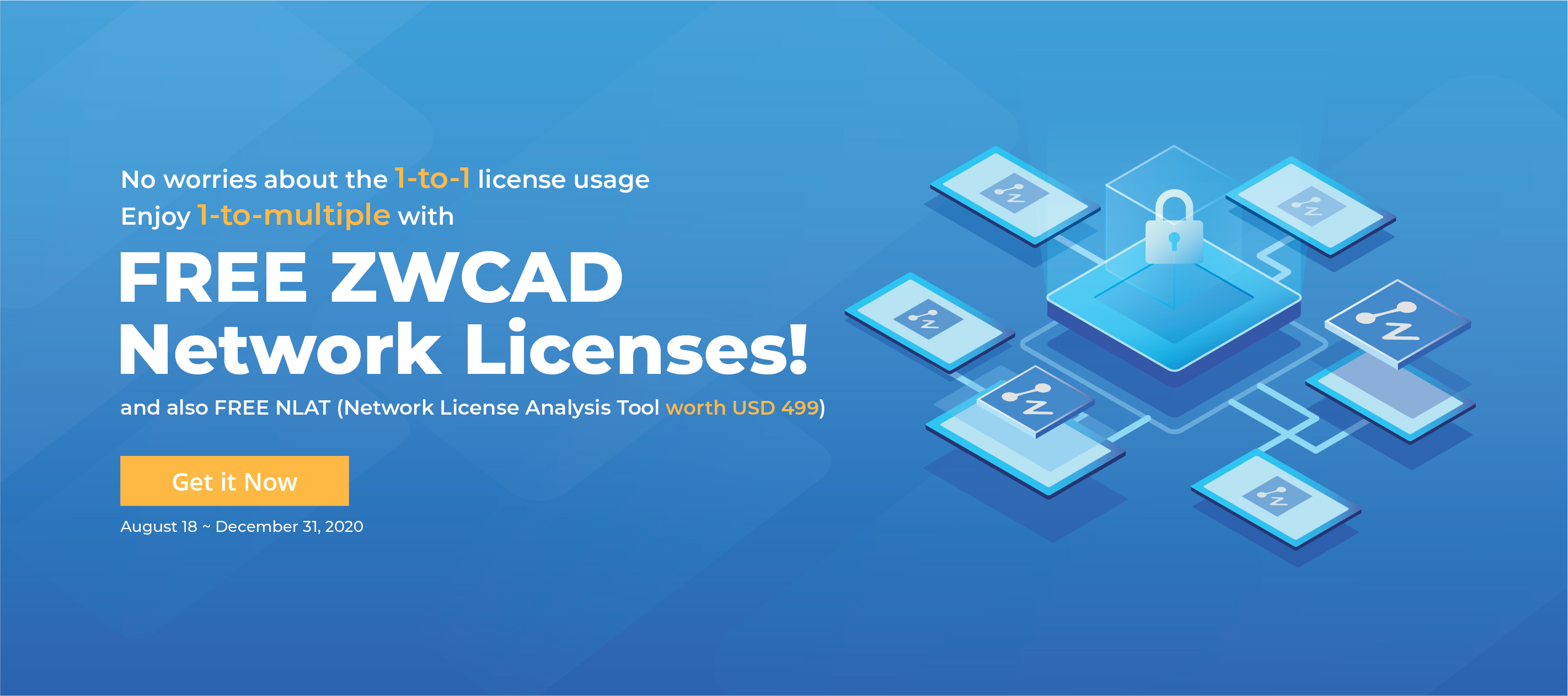 Free zwcad network Licenses ( promo flyer)